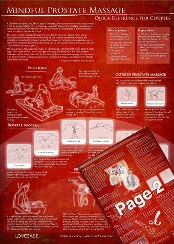 Mindful Prostate Massage Quick Reference - DIN A4 laminated