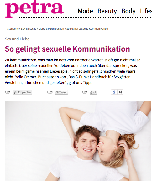 "Petra ""So gelingt sexuelle Kommunikation"" April 2015"