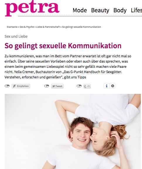 "Petra ""So gelingt sexuelle Kommunikation"" April 2015"