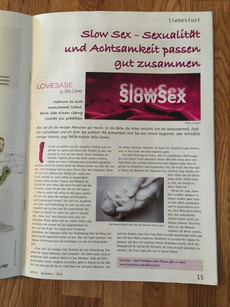 Dezember 2016 DHIVA – Slow Sex: Sex und Achtsamkeit passen gut zueinander