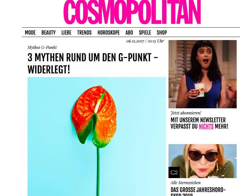 06.12.2017 Cosmopolitan – 3 Mythen rund um den G-Punkt widerlegt