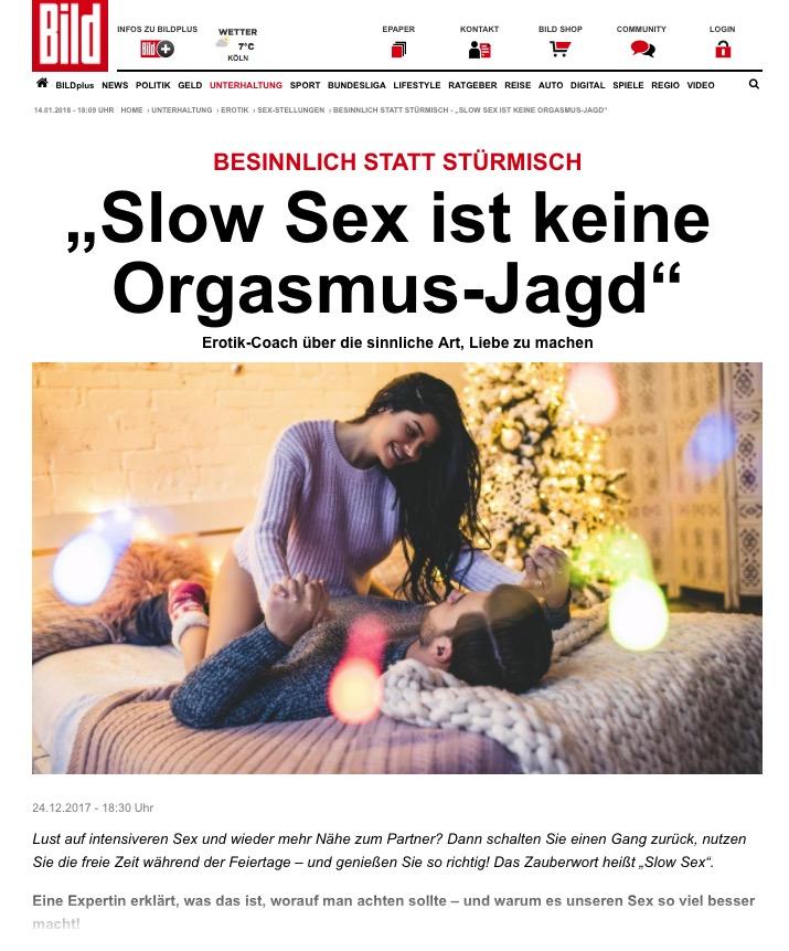 2017-12-24 Bild online: SlowSex ist keine Orgasmusjagd!