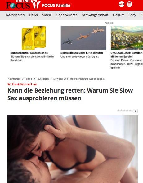 2018-01-09 Focus Online über SlowSex
