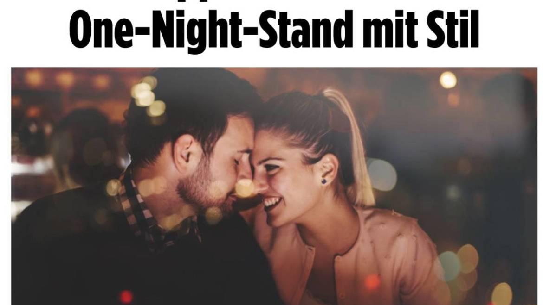 """2018-11-12 BILD Online – """"Tipps für einen One-Night-Stand mit Stil"""""""