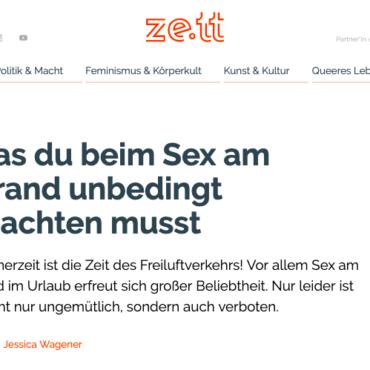 """2019-06-28 ze.tt: """"Tipps für Sex am Strand"""""""