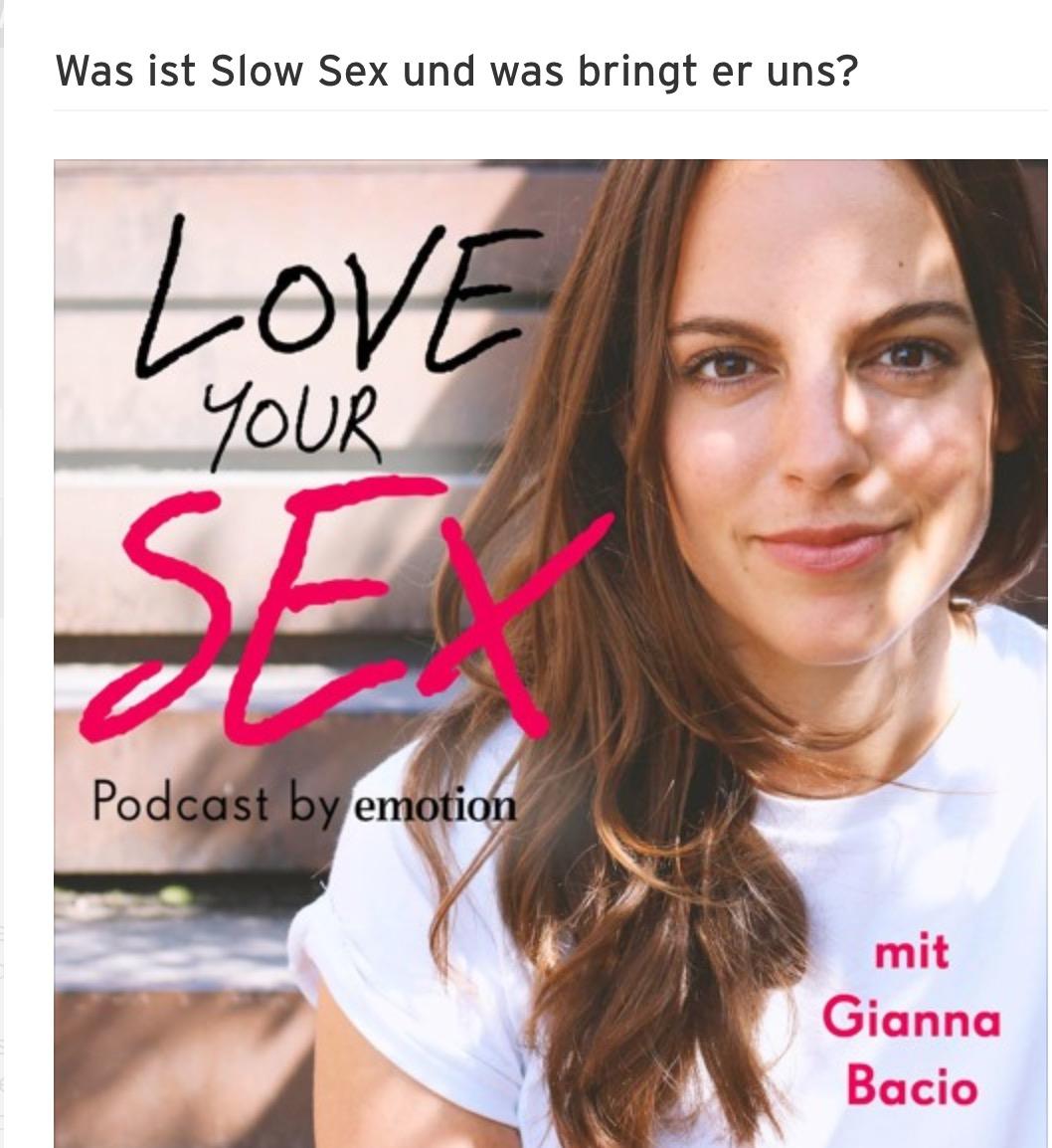 2018-12-21: Gianna Bacio: Was ist Slow Sex und was bringt er uns?